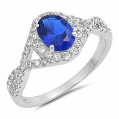 Blue sapphire and clear cz sterling silver ring for Sale in Gardena, CA - OfferUp Diamond Rings, Diamond Jewelry, Jewelry Rings, Sterling Silver Wedding Rings, Silver Accessories, Size 10 Rings, Wedding Rings For Women, Blue Sapphire, Opal