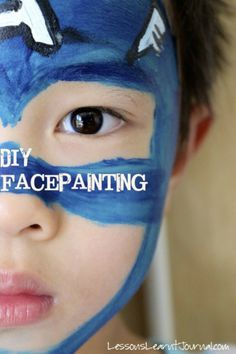 """Imagination is more important than knowledge. Knowledge is limited. Imagination encircles the world."" ~Albert Einstein. Fire up imaginations with some simple DIY face painting. via Lessons Learnt Journal"