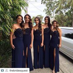Sweetheart Beaded Bridesmaid Dresses,Front Split Prom Dresses,Prom Dress sold by Belle Dress on Storenvy