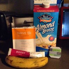 This came out DELICIOUS!! *1 Thrive lifestyle mix packet *1 Boost packet *10ozs of unsweetened vanilla almond milk *1 banana *3 to 4 ice cubes angelanaranjo87.le-vel.com