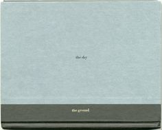 The sky and the ground (for Remy Charlip) / Michael Dumontier, foil stamp on found books, 2012