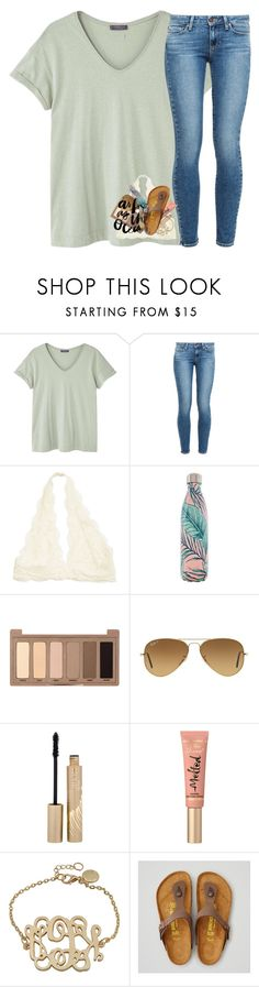 """""""Contest """" by abigailcdunn ❤ liked on Polyvore featuring MANGO, Paige Denim, S'well, Urban Decay, Ray-Ban, Stila, Too Faced Cosmetics and American Eagle Outfitters"""