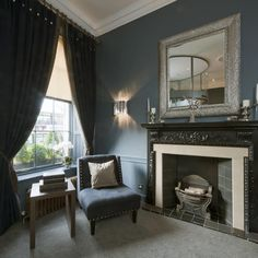 The Roxburghe Hotel, Edinburgh, Georgian Building, Blue interior, Stylish Interior, Occa Design, Interior Design, Hotel Design