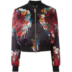 Philipp Plein Damen floral print bomber jacket - reduziert ($1,560) ❤ liked on Polyvore featuring outerwear, jackets, tops, flight jacket, floral jacket, floral bomber jacket, flower print bomber jacket and floral print bomber jacket