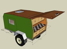 Off-Road Trailers Camping Offroad Small Camping Trailer, Small Trailer, Tiny Trailers, Camper Trailers, Campers, Off Road Teardrop, Teardrop Trailer, Expedition Trailer, Overland Trailer
