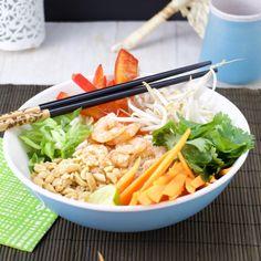 Lemongrass coconut vermicelli shrimp bowl