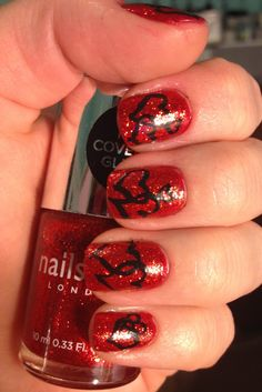 Red sparkly hearts!