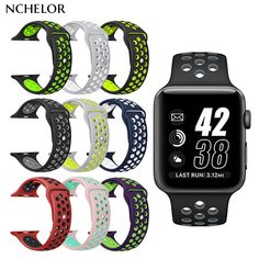 d31919d2b92 Buy top for apple watch nike Silicone Replacement Sport Band For Apple Watch  Series Wrist Bracelet Strap For iWatch Sports