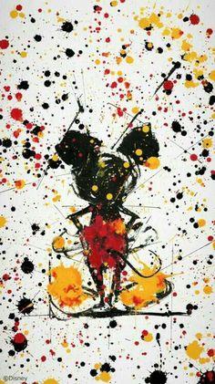 ideas for disney art ideas paint mickey mouse Disneyland, Disney Phone Wallpaper, Wallpaper Iphone Cute, Phone Wallpapers, Art Pop, Disney Art Style, Pop Art Wallpaper, Wallpaper Backgrounds, Disney Paintings