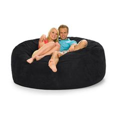 @Overstock - This bean bag chair from Slacker Sack is made from a durafoam blend and microfiber for an amazing look and feel. The cover is removable and machine washable to make for an easy to clean and maintain chair.http://www.overstock.com/Home-Garden/Slacker-Sack-Black-Microfiber-and-Foam-Bean-Bag-Chair-6-round/6677441/product.html?CID=214117 $267.99