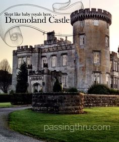 Everyone should sleep in a castle at least once in their life. We'd do it again in a heartbeat! More at: http://passingthru.com/2014/02/dromoland-castle-sweet-dreams/