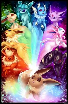 Eeveelution Rainbow Best of DeviantArt by walkingmelonsaaa