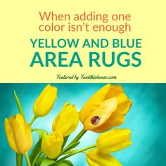 You're looking for something a little different, something with a bit more punch then don't miss these creative and funky yellow and blue area rugs. #arearugs #yellowblue #homedecor #rugs #funkthishouse