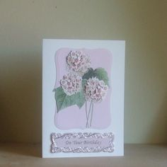 *ONE DAY SALE ITEM 24th FEBRUARY*  Pink Floral Birthday Card £1.00