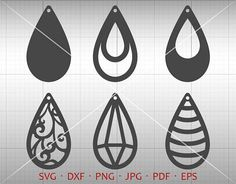 Tear Drop Cut Template. Multiple file format perfect for banners, invitation, clip art, scrapbooking, card making, heat transfer print, party accessories and all your crafting. Commercial use not limited. * This Download Includes ************************ 1 EPS files (grouped image) 1