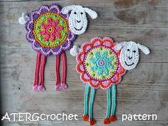 Crochet pattern flower sheep by ATERGcrochet / Greta Tulner