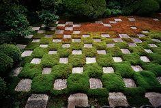 The Moss Garden at Tofuku-ji temple in Kyoto, Japan.  Designed by Mirei Shigemori in 1938.