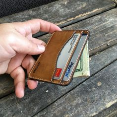 Credit Card Holder Personalized Wallet Slim by urbanwrist