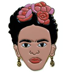 Frida Kahlo Enamel Pin Artist Lapel Pin (190 ARS) ❤ liked on Polyvore featuring jewelry, brooches, enamel flower brooch, polish jewelry, pin brooch, pin jewelry and flower jewellery