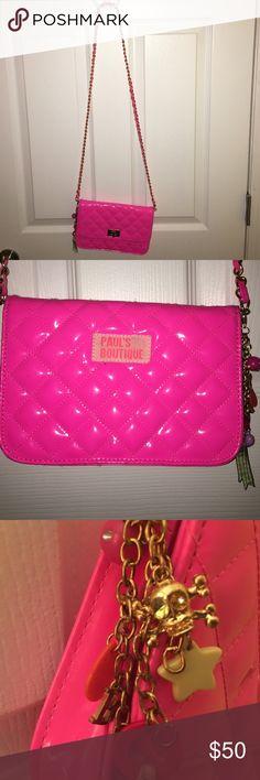 Paul's Boutique London Pink Patent Crossbody Bag Pink Patent Leather Crossbody bag from Paul's Boutique London. Bag is in excellent like new condition. Paul's Boutique Bags Crossbody Bags