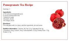 Pomegranate #Tea #recipe card