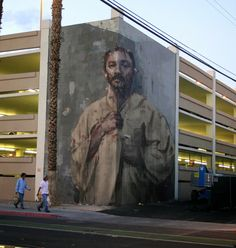 """STREET ART -  In Las Vegas with JustKids for the second edition of the Life Is Beautiful Festival, the Spanish street artist Borondo  just wrapped up another fantastic artwork which is entitled """"Corner"""". Once again renewing himself in terms of techniques, Borondo used the anamorphosis, which is a distorted projection or perspective requiring the viewer to occupy a specific vantage point to reconstitute the image."""