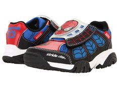 Stride Rite Lighted Ultimate Spider-Man (Toddler/Little Kid) Red And Blue, Spiderman, Footwear, Man Birthday, Sneakers, Kids, Free Shipping, Spider Man, Tennis