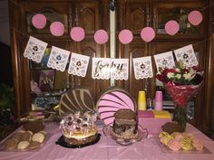 Concha Party Decor - Concha party birthday banner by Paper Designs by Miriam Pan Dulce party. Candy Theme Birthday Party, First Birthday Parties, Birthday Decorations, First Birthdays, Mexican Birthday, Mexican Party, Second Birthday Ideas, Pan Dulce, Fiesta Party