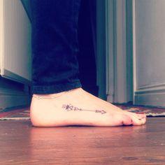 Geometric Arrow Tattoos Geometric Arrow Foot Tattoo