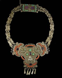 Mexican Silver Necklace by Matilde Eugenia Poulat.