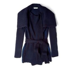 See by Chloé Chunky Rib Long Cardigan ($608) ❤ liked on Polyvore