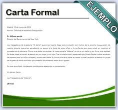 Resultado de imagen para carta formal ejemplo