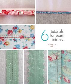 Today it's all about seams. Learn how to make seams that are strong and professional looking with these six seam tutorials from our archives.