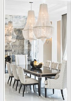 There is really only one thing to say about these statement chandeliers: wow.