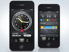 Sleep Time App! This is the best alarm ever! Wakes you up during your lightest sleep stage so your not woken up during deep sleep. This way you don't wake up disoriented and exhausted even with 10 hours if sleep.