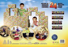 """Tehličky dostali prestížne ocenenie """"Správna hračka"""", ktoré im udelila odborná komisia zo Združenia pre hračku a hru. Tehličky sa zúčastňujú veľtrhov, detských dní, súťaží a festivalov. Deti milujú stavanie a rúcanie veľkých kociek, pretože im umožňuje slobodne realizovať ich sny vo veľkom svete. Rid, Baseball Cards, Frame, Building Block Games, Kids, Picture Frame, Frames, Hoop, Picture Frames"""