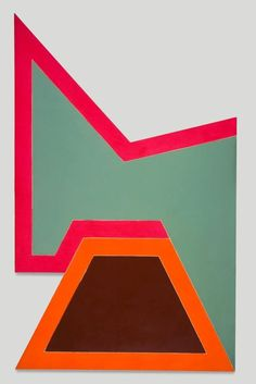 """Frank Stella  """"Wolfeboro IV""""  Fluorescent alkyd and epoxy paint on canvas  1966"""