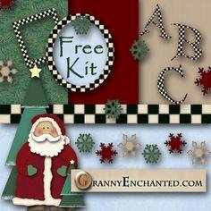 Free Digi Christmas Scrapbook Kit