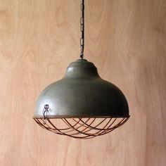 Raw Metal Bell Pendant Chandelier