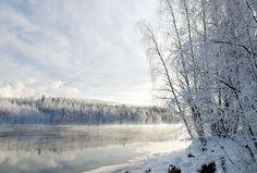 Vuoksi river in winter. Photo: Kai Skyttä Finland (Vuoksi flows through my hometown)