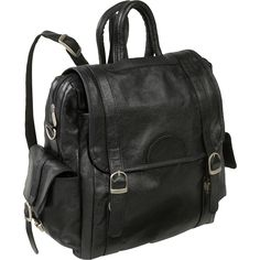 AmeriLeather Leather Three Way Backpack - eBags.com