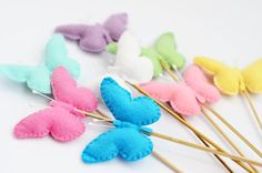 Easter decor Butterfly on skewers Spring decor by CoutureByAyca, $9.90