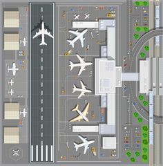 Minecraft City, Minecraft Projects, Minecraft Designs, Minecraft Construction, Minecraft Ideas, Lego Airport, Modele Lego, Rpg Map, Airport Design