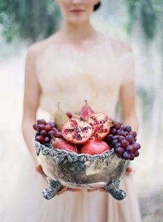 nice decoration with fruits for autumn