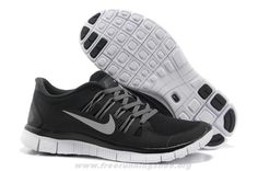 New 580591-002 Black Grey Silver Nike Free 5.0 Womens