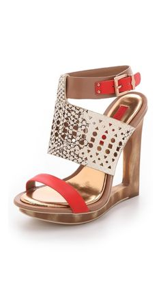 BCBGMAXAZRIA Architectural Wedge Sandals. here is a close up of those shoes (from the egyptian style dress) both are BCBGMXAZRIA