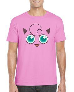 Newest Fashion Womens//Mens Cute cartoon Jigglypuff Face 3D print T-shirt UKT39
