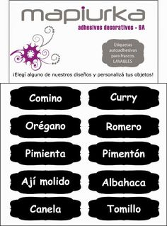 etiquetas para cocina - Buscar con Google Foto Transfer, Agenda Planner, Diy Projects To Try, Storage Organization, Decoupage, Lettering, Tips, Google, Control