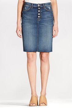 Remi Skirt W/Raw Hem