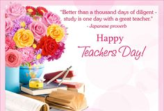 Better than a thousand days of diligent, #study is one day with a great #teacher. Happy #teachersday